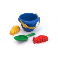 Набор для песочницы №1 (4 предмета: ведерко, лопатка, 2 формочки)