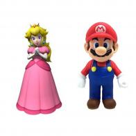 Набор фигурок Mario & Princess Peach (Марио и Принцесса Персик), 12 см