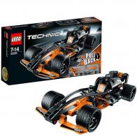 Чёрный гоночный автомобиль Лего Техник