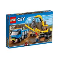 Экскаватор и грузовик Lego City