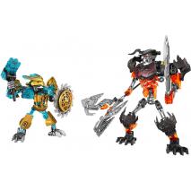 Создатель Масок против Стального Черепа Lego Bionicle