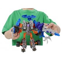 Локдаун и Когтистый Динозавр 3в1. Констракт-Боты: Воины. Transformers 4