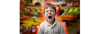 Детская истерика в магазине игрушек.