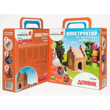 """Конструктор BrickMaster """"Домик"""" из настоящих кирпичиков (99 деталей)"""