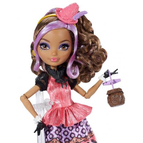 """Кукла Ever After High """"Долго и Счастливо"""" Шляпное чаепитие - Седар Вуд (Cedar Wood), Mattel, BJH32 крупный план"""