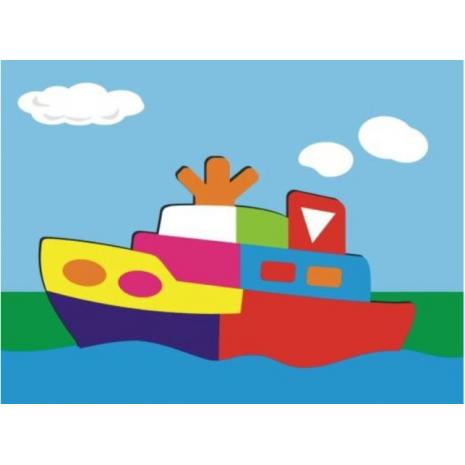 "Рамка-пазл ""Кораблик"""