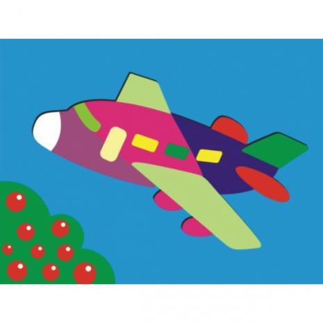"""Самолет"" - деревянная рамка-пазл"