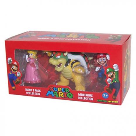 Набор мини-фигурок: принцесса Peach, Bowser, Mario NIF301-mk