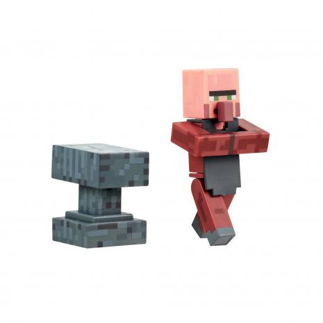 Фигурка Кузнец (8 см) с аксессуарами, Майнкрафт, Minecraft Blacksmith Villager