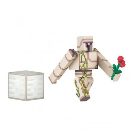 Фигурка Железный Голем (8 см) с аксессуарами, Майнкрафт, Minecraft Iron Golem