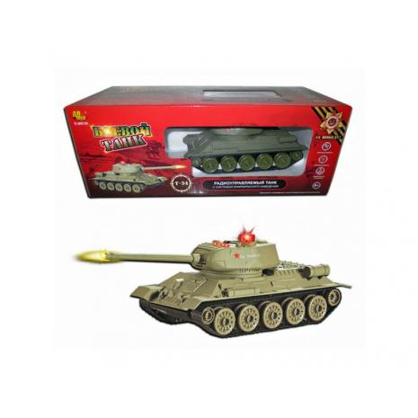 Танк Т-34 радиоуправляемый, звуковые и световые эффекты