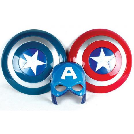 Маска и щит Капитана Америка