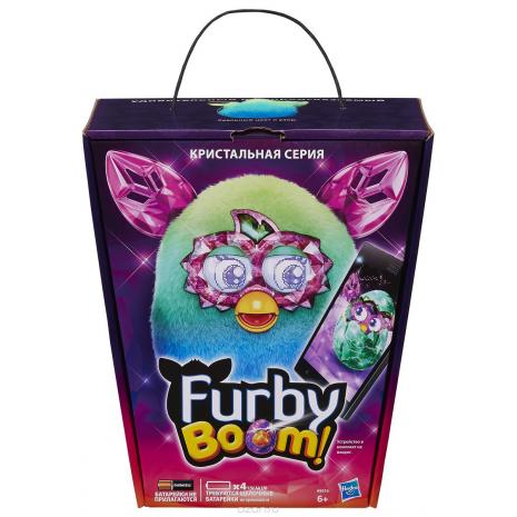 Ферби Бум сине-зеленый, Кристальная серия, Hasbro