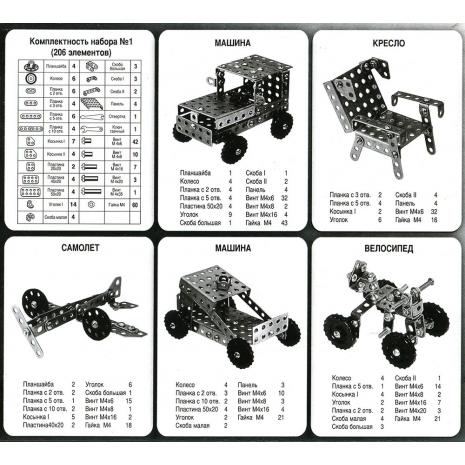 Конструктор металлический набор № 1 для уроков труда