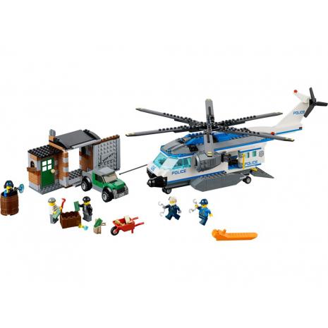 Полиция на вертолете наблюдения Лего Город