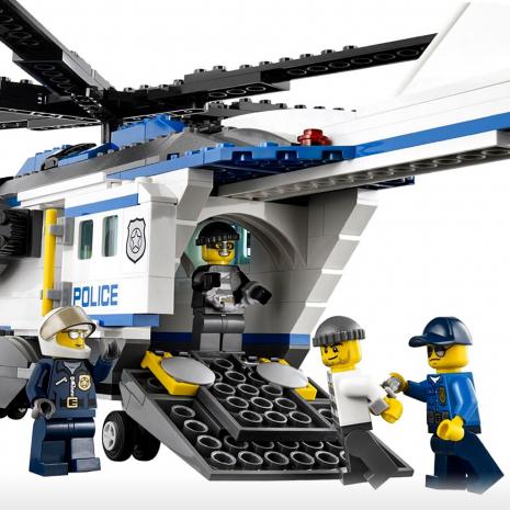 Полицейский вертолёт наблюдения Лего Город
