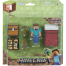 Фигурка Стив (8 см) с аксессуарами Майнкрафт, набор для выживания, Minecraft Player Survival Pack