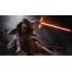 Кайло Рен с трехлезвенным мечем
