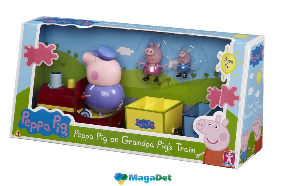 паровозик дедушкин свинка пеппа игрушка купить
