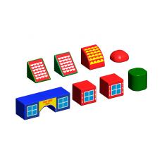 Набор магнитных кубиков Домики Magneticus