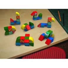 Набор магнитных кубиков Животные Magneticus