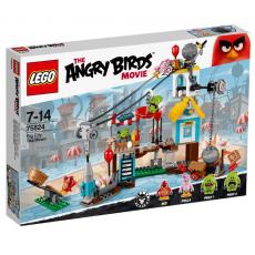 Разгром Свинограда Лего Злые птички