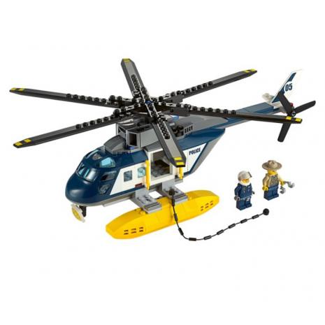 Погоня на полицейском вертолете Лего Город