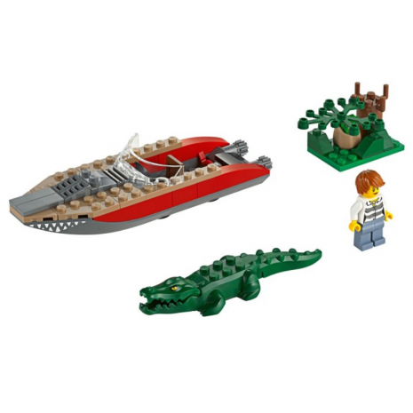Погоня на полицейском вертолете Лего Сити