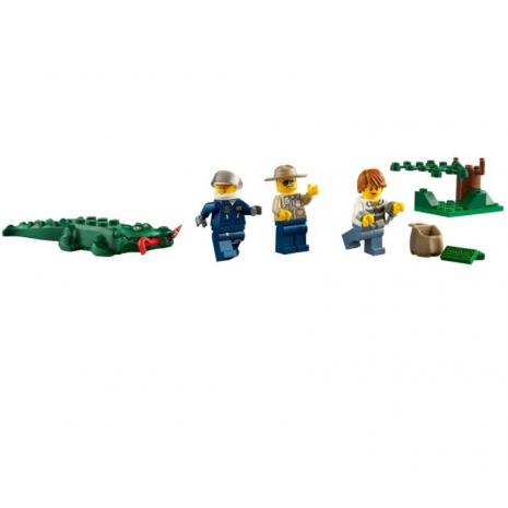 Погоня на полицейском вертолете Lego City