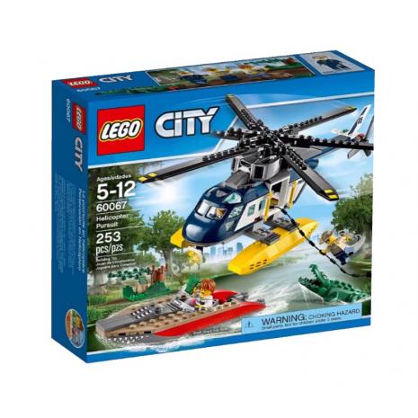 Погоня на полицейском вертолёте Лего Город